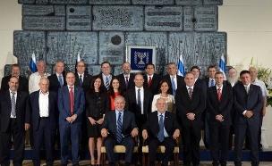 ממשלת נתניהו הרביעית - תמונה קבוצתית (צילום: אבי אוחיון, לשכת העיתונות הממשלתית)