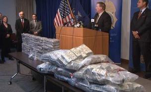 הסמים שנתפסו (צילום: news sky)