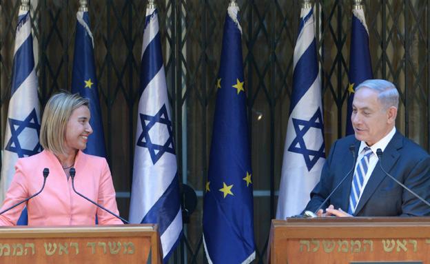 """רה""""מ ושרת החוץ של האיחוד, היום (צילום: עמוס בן גרשום לעמ)"""