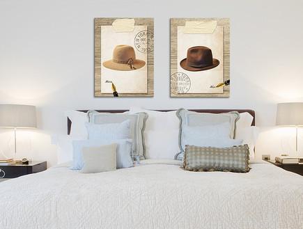 חדרי שינה 06, הדפס לו ולה של פייפר בלה, מחיר-110 שקל ליחידה