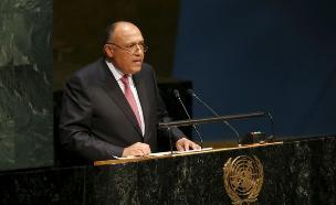 שר החוץ המצרי בזמן הועידה