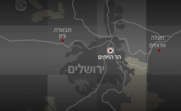 מפה הר הזיתים (צילום: חדשות 2)