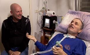 יוצר, חולה ALS, משיק קומדיית רשת (צילום: חדשות 2)