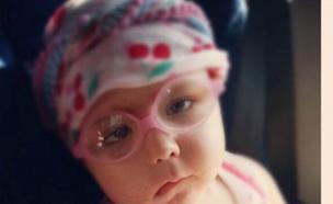 ארין, החולה בסרטן במוח, בגיל 3 וחצי (צילום: תומר ושחר צלמים)