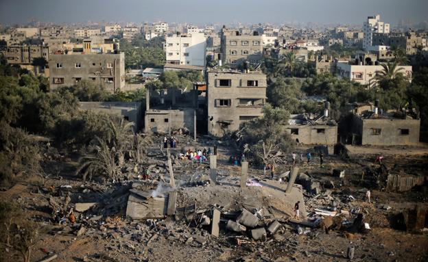 """""""שיקום עזה - אינטרס ישראלי"""". ארכיון (צילום: רויטרס)"""