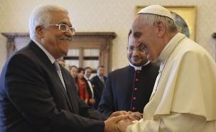 אבו מאזן והאפיפיור, לפני שבועיים (צילום: רויטרס)
