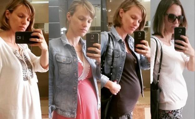 ויטה קיירס בהריון  (צילום: תומר ושחר צלמים, צילום ביתי)
