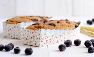 עוגת בננה, אוכמניות ושוקולד צ'יפס (צילום: שרית נובק - מיס פטל, אוכל טוב)