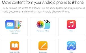 אפליקציית Move to iOS