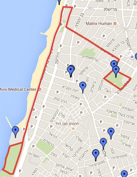 מסלול הצעידה (צילום: כפיר בולוטין מתוך אתר עיריית תל אביב)