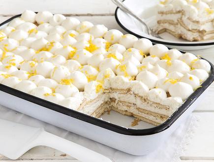 עוגת ביסקוויטים עם קרם גבינה לימוני (צילום: אסף אמברם, אוכל טוב)