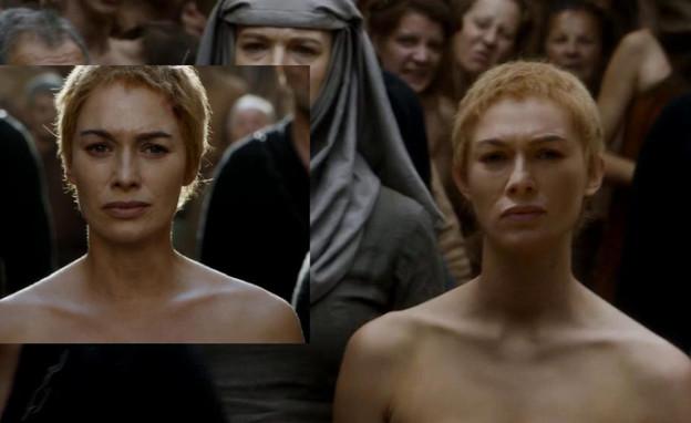 """לנה הידי והכפילה ב""""משחקי הכס"""" עונה 5 פרק 10 (צילום: מאתר """"Uproxx"""",  יחסי ציבור )"""