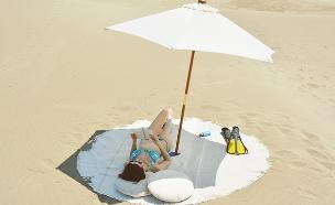 החמישייה 15, מגבת חוף עגולה (צילום: ארכי-פיקסל )