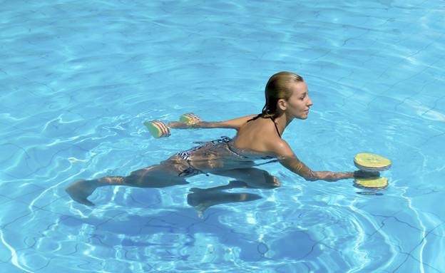 אימון בבריכה (צילום: אימג'בנק / Thinkstock)