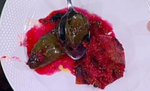 עלי מנגולד ובצלים ממולאים – רחלי קדוש (צילום: מתוך מאסטר שף, שידורי קשת)
