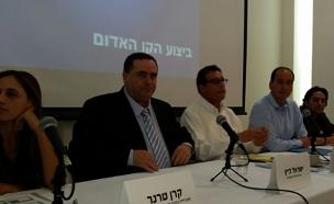 ישראל כץ מציג את תכנית הרכבת בגוש דן (צילום: חדשות 2)