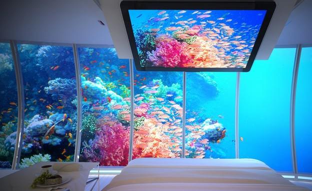 מלון מתחת למים, נוף, Water Discus Hotel Dubai  (צילום: Water Discus Hotel Dubai)