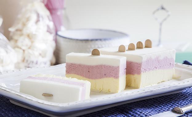 עוגת גלידה ב-3 צבעים (צילום: אסף אמברם, אוכל טוב)