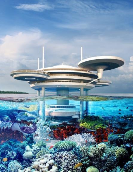 מלון מתחת למים, גובה, Water Discus Hotel Dubai  (צילום: Water Discus Hotel Dubai)