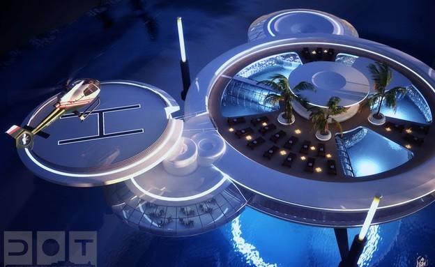 מלון מתחת למים, מבנה על, Water Discus Hotel Dubai  (צילום: Water Discus Hotel Dubai)