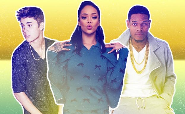 ריהאנה, ג'סטין ביבר, פטי וופ (צילום: בילבורד, getty images)