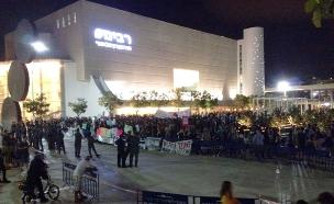 הפגנה בהבימה תל אביב (צילום: חדשות 2)