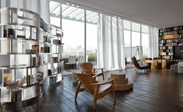 אדריכלים מעצבים גינדי (צילום: הדמיה אילן פיבקו)