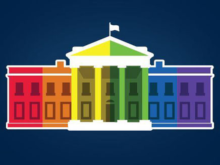 הבית הלבן צבוע בצבעי הגאווה (צילום: טוויטר)