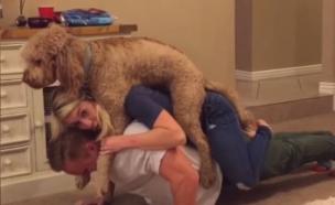 אימון זוגי עם כלב (צילום: Youtube)