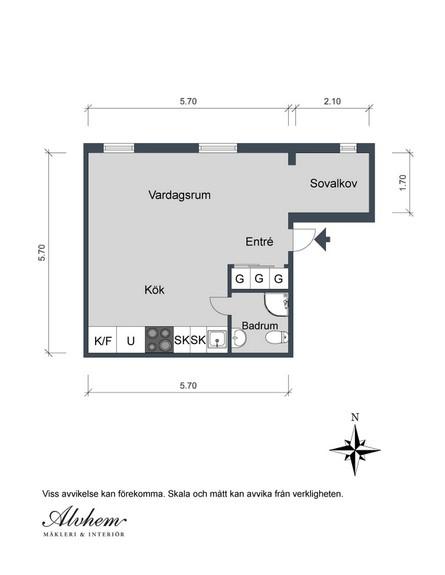 דירה בגוטנברג, גובה, תוכנית