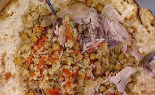 אורז עם עוף, חומוס, גזר ובצל – בנימין ויטלם (צילום: מתוך מאסטר שף 5, שידורי קשת)