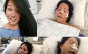 אישה שחלתה בסרטן נדיר
