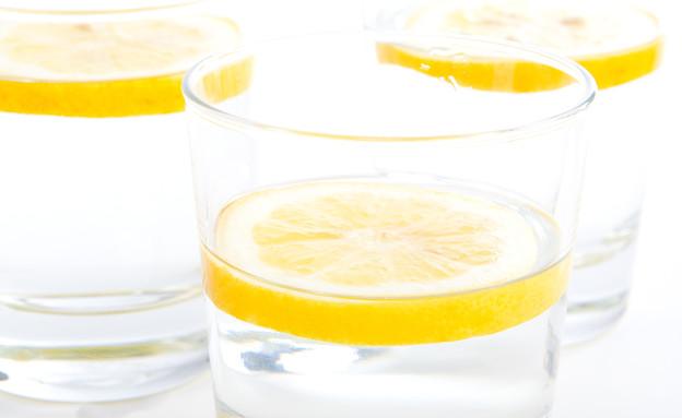 כוסות מים עם פלחי לימון (צילום: Robert Anthony, Shutterstock)