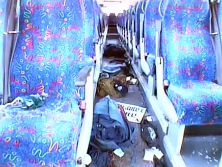 האוטובוס שהותקף, אוגוסט 2011 (צילום: חדשות 2)