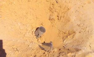 הרקטה שאותרה (צילום: ערן סנקר)