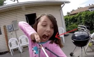 הוציאה שן (צילום: יוטיוב)
