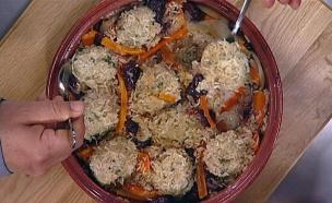 עזיזה שג'ידה – טג'ין של קציצות עוף טחון עם אורז  (צילום: מתוך מאסטר שף 5, שידורי קשת)