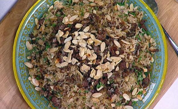 """נטלי – """"מנסף"""" תבשיל אורז עם בשר ושקדים  (צילום: מתוך מאסטר שף 5, שידורי קשת)"""