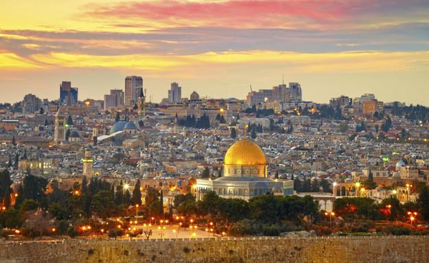 ירושלים בשקיעה (צילום: אימג'בנק / Thinkstock)