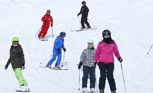 רוב הפציעות בחורף נגרמות בחופשות סקי (צילום: רויטרס)