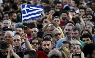 בדרך לפשרה? המחאה ביוון (צילום: רויטרס)
