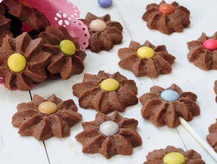 עוגיות חמאה על מקל - פרחים