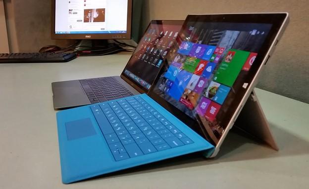 Microsoft Surface Pro 3 מול MacBook 12