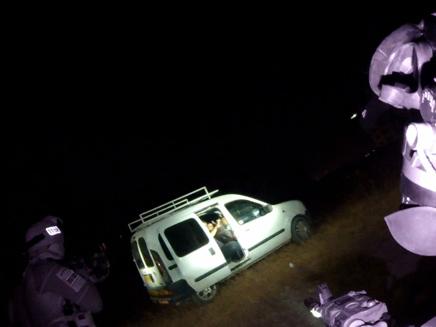 """הרכב שבו שהו החשודים (צילום: דובר מג""""ב)"""