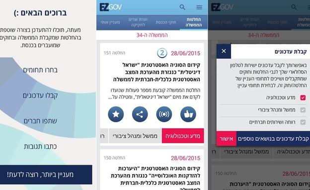 אפליקציות השבוע, EzGov