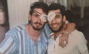 """איבדו עין בצוק איתן (צילום: באדיבות עיתון """"במחנה"""")"""