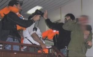 העימותים במרמרה (צילום: חדשות 2)