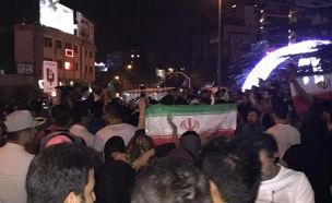 חגיגות ברחובות אירן לאחר חתימה על ההסכם (צילום: חדשות 2)