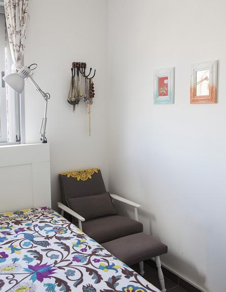 הביתה של גילת, ג, חדר שינה  (צילום: הגר דופלט)