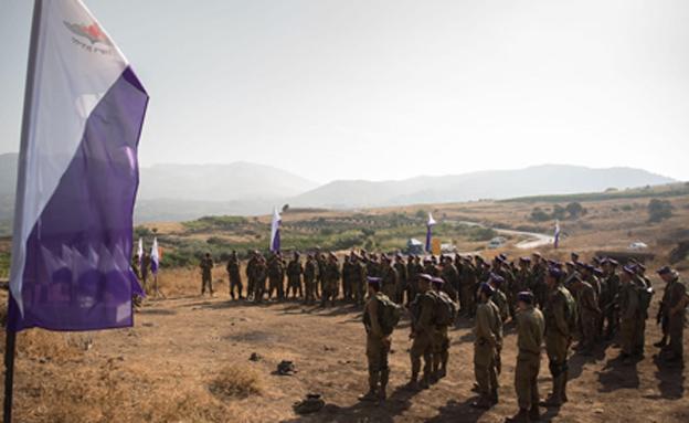 """מאות צעירים התגייסו אתמול לחטיבה (צילום: דובר צה""""ל/גבעתי)"""